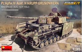 MiniArt | 35330 | Pz.Kpfw.IV Ausf. H Krupp-Grusonwerk. Mid Prod. (Aug-Sep 1943) Interior Kit | 1:35