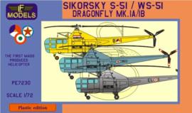LF models | PE7230 | Sikorsky S-51 / WS-51 Dragonfly Mk.Ia/Ib