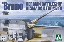 Takom | 5012 | 'Bruno' German Battleship Bismarck Turret B | 1:72