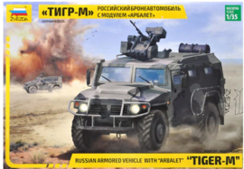 Zvezda | 3683 | Tiger-M Russian Armored Vehicle with ARBALET | 1:35