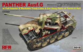 Rye Field Model   5019   Panther Ausf.G w/Full interior w/Cut away parts   1:35