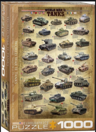 Eurographics | Puzzel 1000 | World War II Tanks