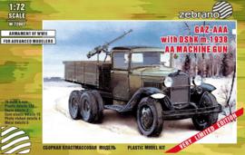 GAZ-AAA with DShK AA mashine gun
