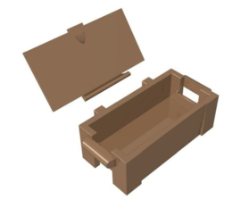 (ammo) box with lid.
