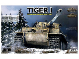 Rye Field Model | 5025 | Tiger I w/ Full Interior & clear parts | 1:35