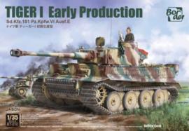 Border Model | BT-010 | Tiger I Early Production Sd.Kfz.181 Pz.Kpfw.VI Ausf.E | 1:35