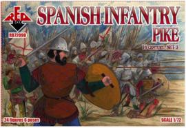 RedBox | 72098 | Spanish Infantry Pikemen XVI Century Set 3 | 1:72