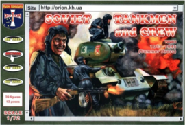 Orion | 72036 | Soviet Tankmen and Crew WWII 1943-1945 (Summer Dress) | 1:72