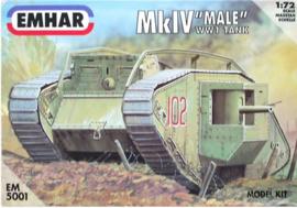 Emhar | EM5001 | Mk.IV Male ww1 heavy battle tank | 1:72