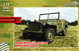 Zebrano | 72040 | Bantam BRC40 US 1/4 ton 4x4 truck | 1:72