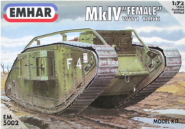 Emhar | EM5002 | Mk.IV female ww1 heavy battle tank | 1:72