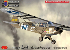 KP | KPM0190 | Piper L-4 Grasshopper with Bazookas | 1:72
