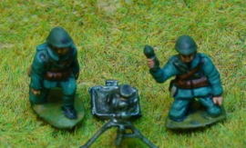 EarlyWarMiniatures | dutinf21 | 81mm Brandt mortar with 3 crew | 1:72