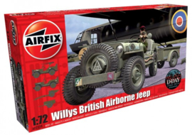 Airfix | A02339 | Willys British Airborne Jeep and trailer | 1:76