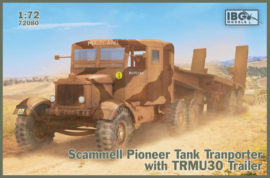IBG | 72080 | Scammell Pioneer tank transporter with TRMU30 trailer | 1:72