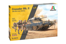 Italeri | 6579 | Crusader Mk.II with 8th army infantry | 1:35