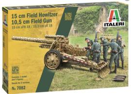 Italeri | 7082 | 10.5cm Field gun sFH18 / 15cm Field howitzer sK18 | 1:72