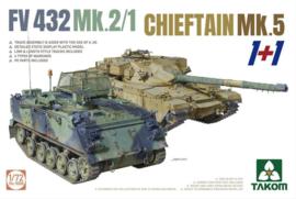 Takom | 5008 | 2 kits Combo FV432 Mk.2/1 and Chieftain Mk. 5 | 1:72