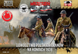 Polish Uhlans command on horsebacks