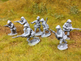 EarlyWarMiniatures | knilinf3 | 7 Dutch Knil soldiers | 1:72