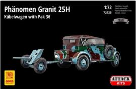 Attack   72925   Phanomen Granit 25H Kubel mit Pak36   1:72