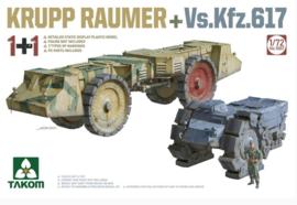 Takom   5007   2 kits Combo KRUPP RÄUMER+ Vs.Kfz.617   1:72
