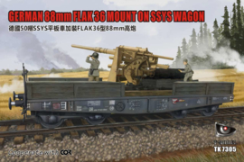 88mm Flak 36 mount on 50 ton SSys Schwerer Platform wagen
