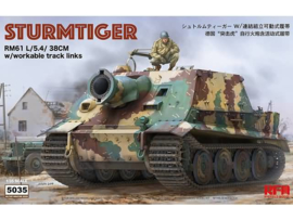 Rye Field Model | 5035 | Sturmtiger RM61 L/5.4 3cm, workable track links, interior | 1:35