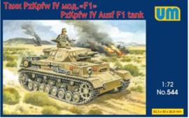UM | 544 | PzKpfw IV Ausf F1 tank | 1:72
