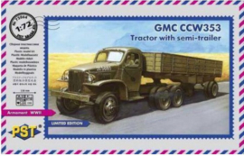 PST | 72064 | GMC CCW353 tractor with semi-trailer | 1:72