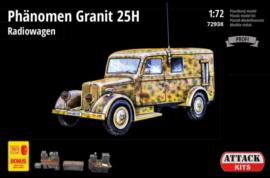 Attack| 72938 | Phanomen Granit 25H Radiowagen full interior | 1:72