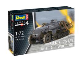 Sd.Kfz 251/1 AusfC mit Wurfr. 40