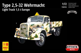 Attack | 72919 | Opel Type 2,5-32 Wehrmacht Europa | 1:72