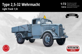 Attack | 72918 | Opel Blitz (Type 2,5-32) Wehrmacht 1,5t Light Truck | 1:72