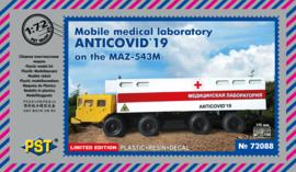 PST | 72088 | Mobile Medical Laboratory ANTICOVID'19 on MAZ-543M | 1:72