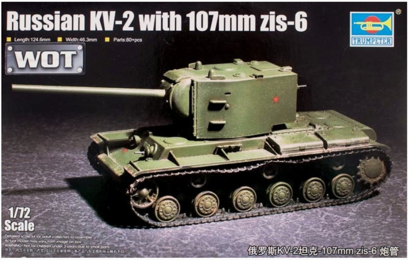Trumpeter | 07162 | Russian KV-2 with 107mm zis-6 | 1:72
