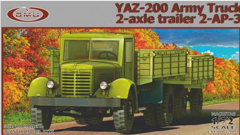 GMU | 72001 | YAZ-200 with 2 axle trailer 2-AP-3 | 1:72