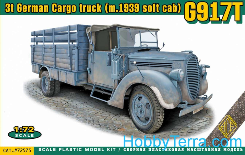 G917T German Cargo Truck with soft cab