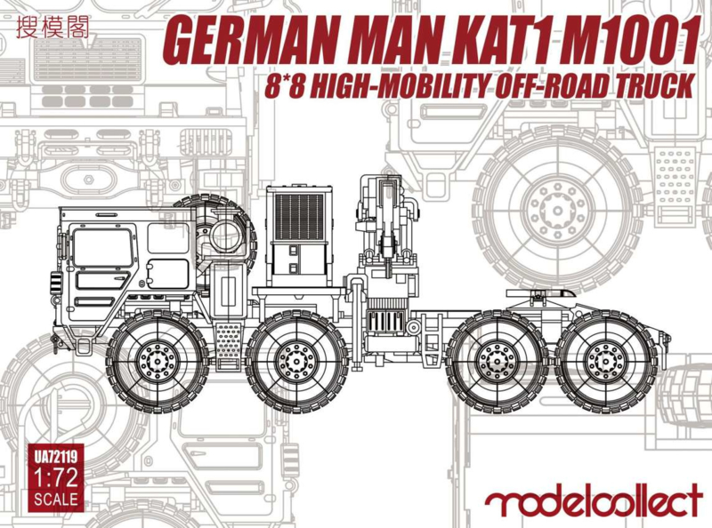 MAN KAT1 M1001 8x8 HIGH-Mobility off-road truck