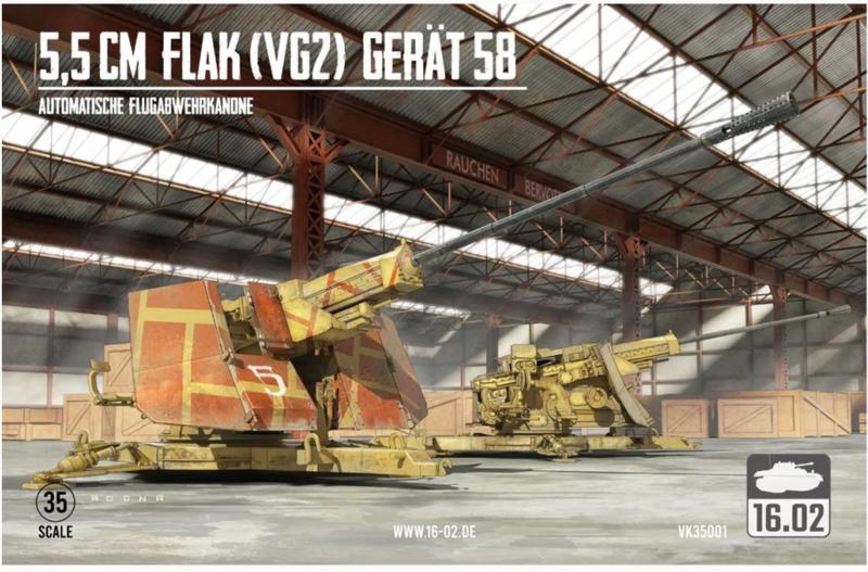 16.02   VK35001   5,5cm FLAK (VGZ) Gerät 58   1:35