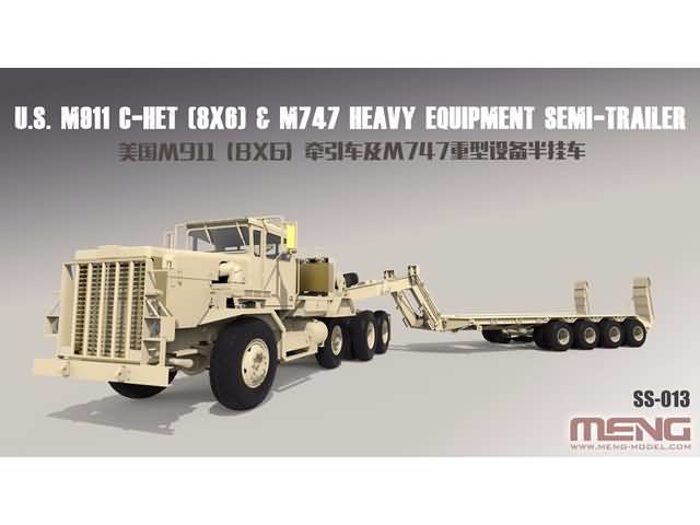 1/35 U.S. M911 C-HET (8x6) & M747 Heavy Equipment Semi-Trailer