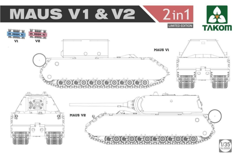 Maus V1/V2 (2in1 Limited edition)