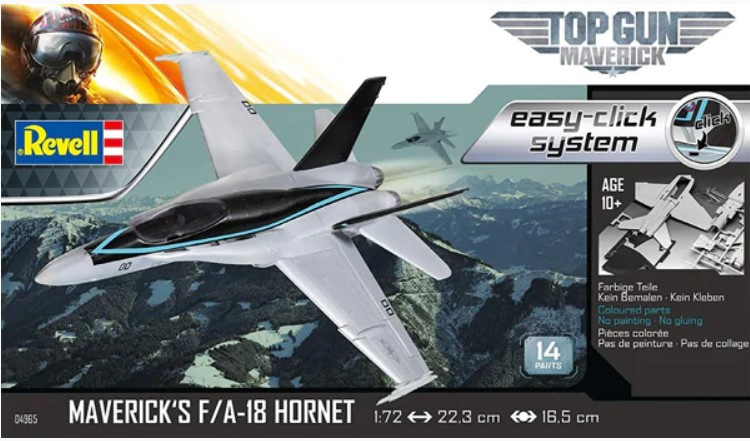 "Revell | REV04965 | F/A-18 Hornet ""Top Gun"" easy-click 