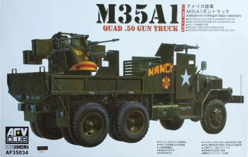 AFV Club   AF35034   M35A1 quad .50 gun truck   1:35