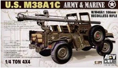 AFV Club   AF35S19   us M38A1C w/M40A1 106mm recoilless rifle   1:35