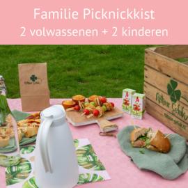 Familie Picknickkist: 2 volwassenen en 2 kinderen