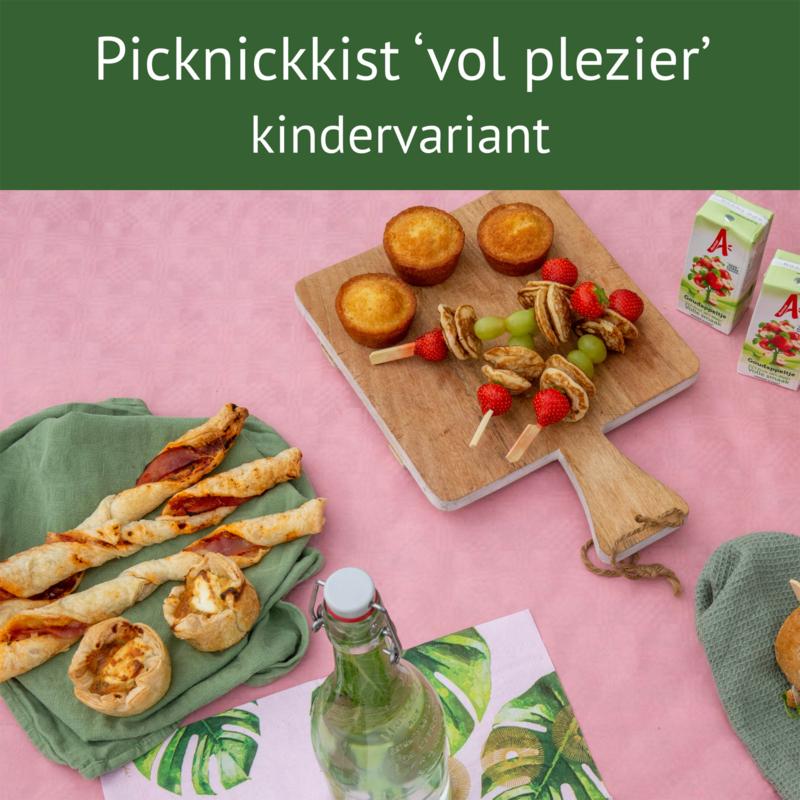 Picknickkist 'vol plezier' 1 kind
