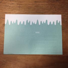 Ping kerstkaart met envelop