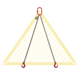 DELTA Ketting 2-sprong - G80 - 10mm - 4250/3150kg - Gaffelklephaak