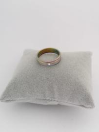 RVS Ring met steentje en kleur